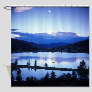 Mountain Lake Shower Curtain
