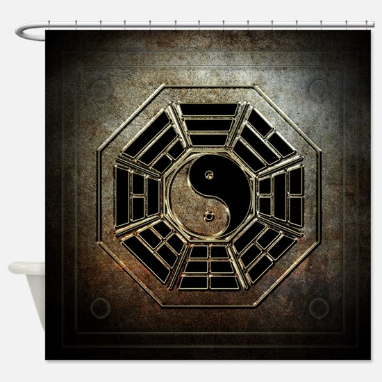 Yin Yang Bagua Shower Curtain