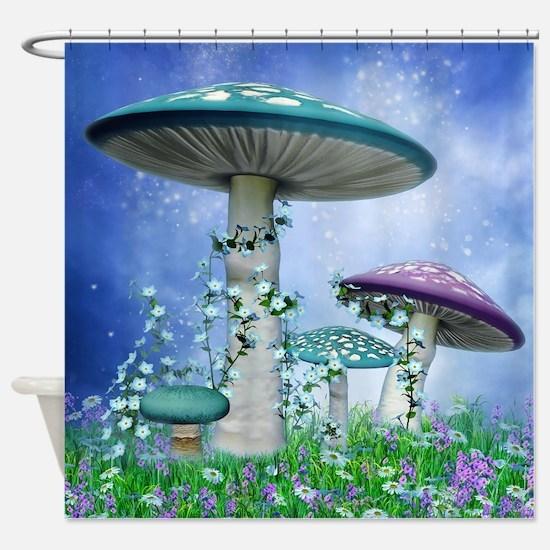 Spring Mushrooms Shower Curtain