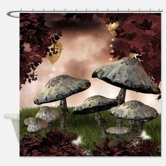 Autumn Mushrooms Shower Curtain