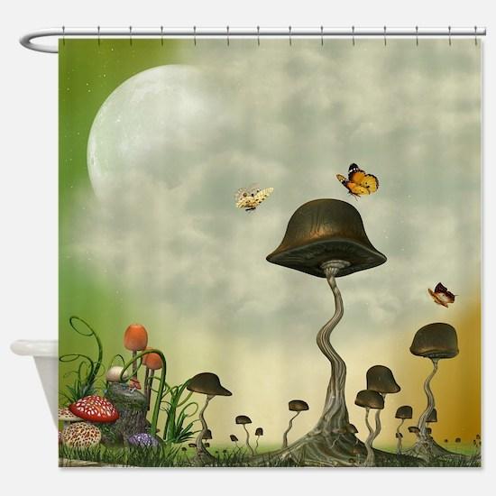 Strange Mushrooms Shower Curtain