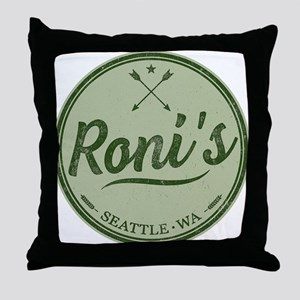Roni's Bar Logo Throw Pillow