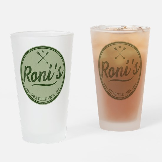 Roni's Bar Logo Drinking Glass