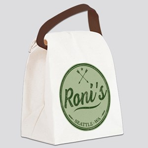 Roni's Bar Logo Canvas Lunch Bag