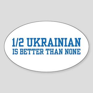 Half Ukrainian Oval Sticker