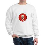 Skull & Crossbones - Red Circle Sweatshirt