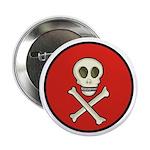 Skull & Crossbones - Red Circle Button