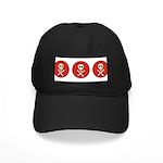 Skull & Crossbones - Red Circle Black Cap