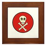 Skull & Crossbones - Red Circle Framed Tile