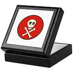 Skull & Crossbones - Red Circle Keepsake Box