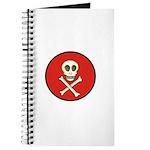 Skull & Crossbones - Red Circle Journal