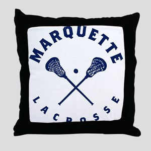 Marquette Golden Eagles Lacrosse Throw Pillow
