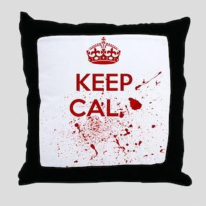Keep Calm Blood Throw Pillow