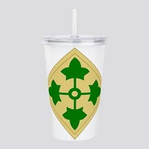 4th Infantry Division. Acrylic Double-wall Tumbler