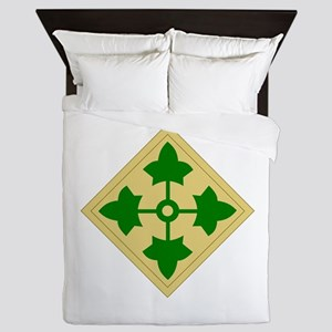 4th Infantry Division Queen Duvet