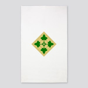 4th Infantry Division 3'x5' Area Rug
