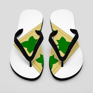4th Infantry Division Flip Flops