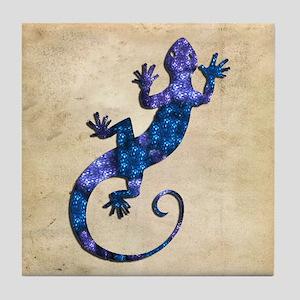 Blue Gecko Tile Coaster