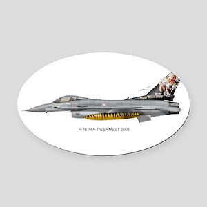 tafTiger06 Oval Car Magnet