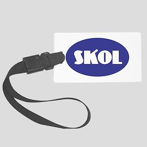 SKOL - Purple Large Luggage Tag