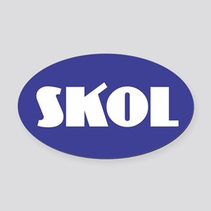 SKOL - Purple Oval Car Magnet