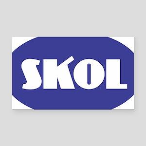 SKOL - Purple Rectangle Car Magnet