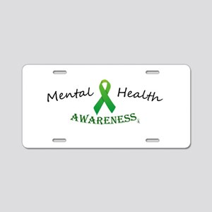 Mental Health Awareness Ribbon Aluminum License Pl