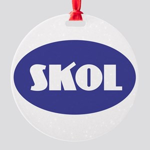 SKOL - Purple Round Ornament
