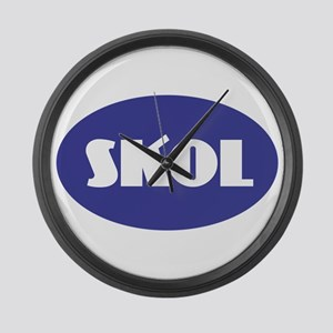 SKOL - Purple Large Wall Clock