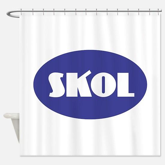 SKOL - Purple Shower Curtain