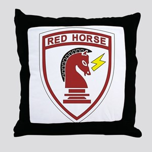 red_horse Throw Pillow