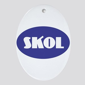 SKOL - Purple Oval Ornament