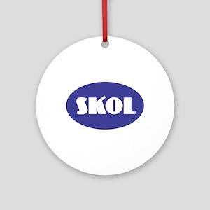 SKOL - Purple Round Ornament