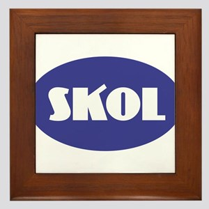SKOL - Purple Framed Tile