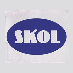 SKOL - Purple Throw Blanket