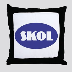 SKOL - Purple Throw Pillow