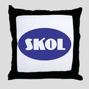 SKOL - Purple Throw Pillow
