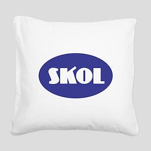 SKOL - Purple Square Canvas Pillow