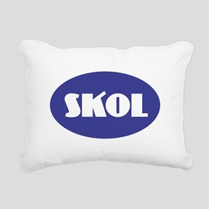 SKOL - Purple Rectangular Canvas Pillow