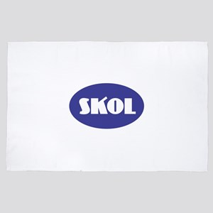 SKOL - Purple 4' x 6' Rug