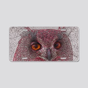 Ethereal Owl Aluminum License Plate