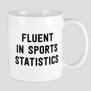 Fluent in Sports Statistics Mugs