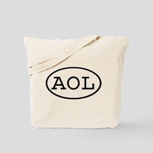 AOL Oval Tote Bag