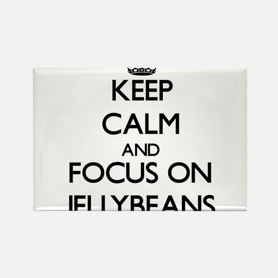 Keep Calm by focusing on Jellybeans Magnets
