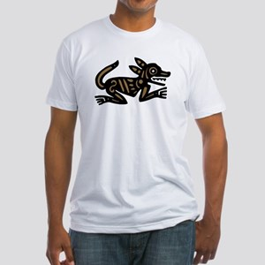 Tribal Dog Fitted T-Shirt