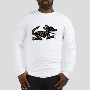 Tribal Dog Long Sleeve T-Shirt