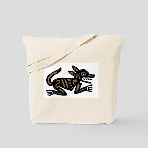 Tribal Dog Tote Bag