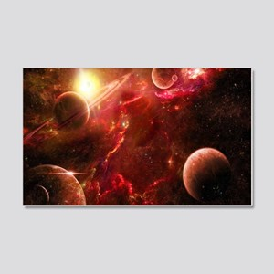 Red Solar System Wall Decal