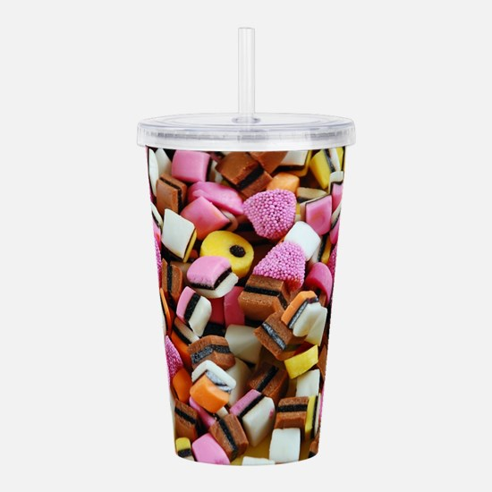Colorful licorice cand Acrylic Double-wall Tumbler