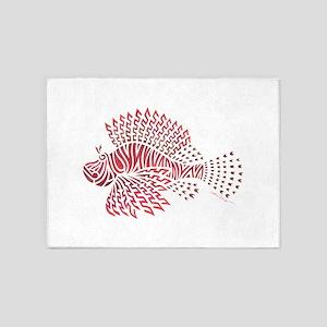 Tribal Lionfish 5'x7'Area Rug